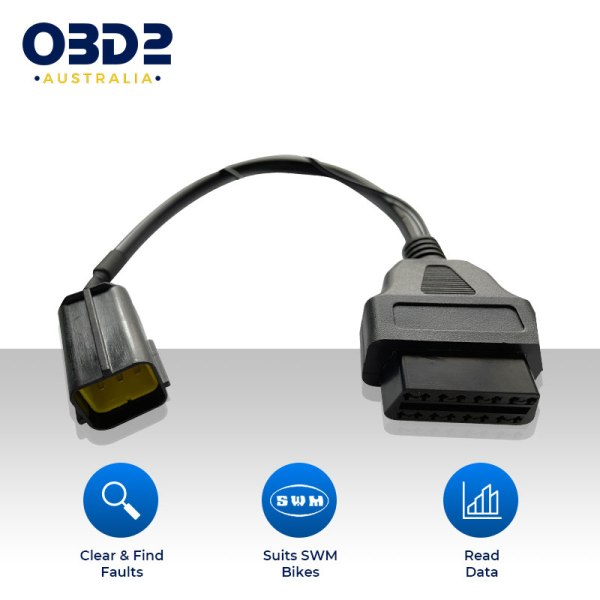 ktm 6 pin to obd2 adapter cable diagnostic motorcycles can kline a 1