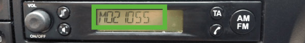 ford m serial display