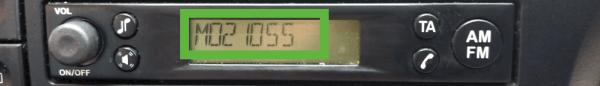 ford m serial display