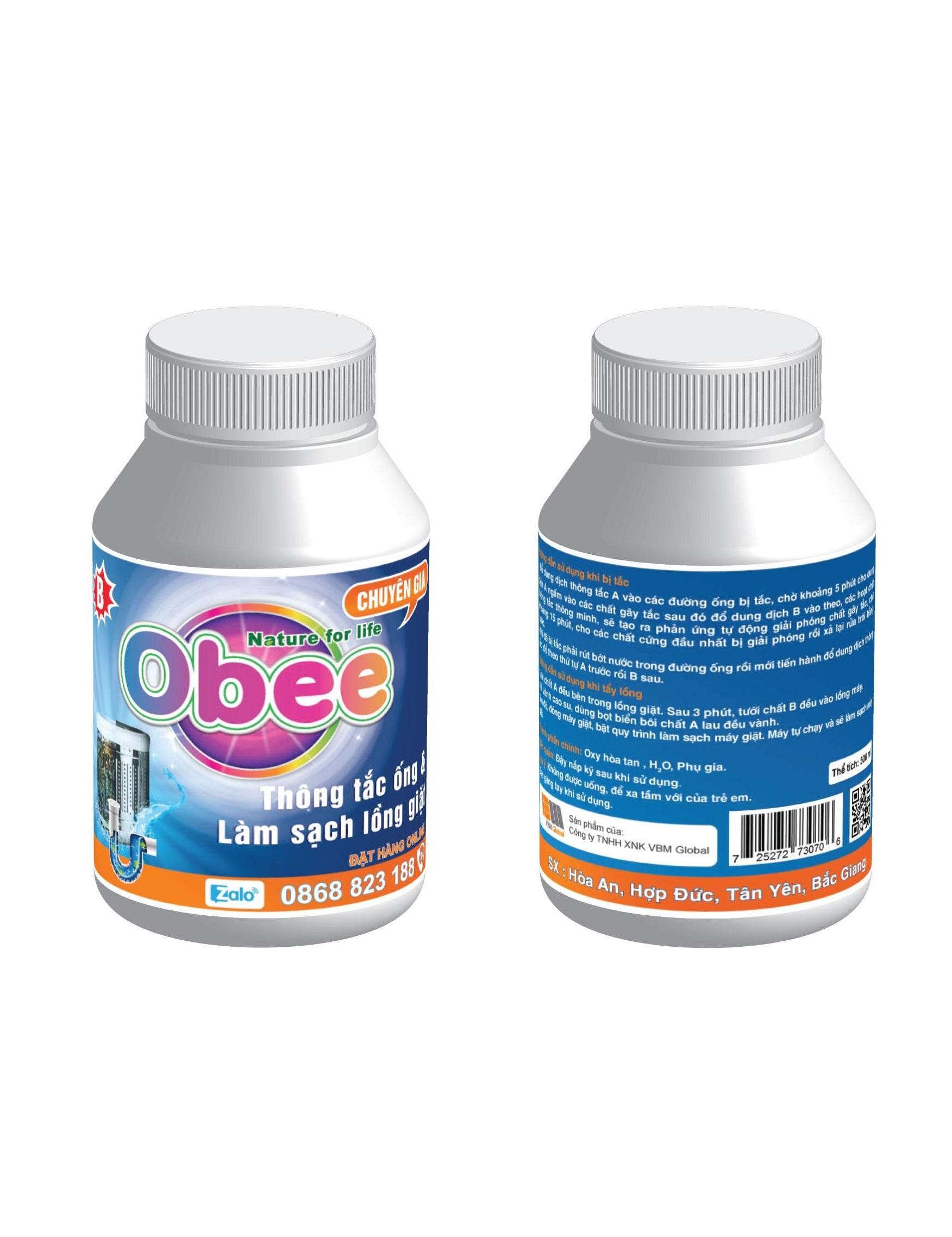 Thông tắc cống Obee - Tẩy lồng máy giặt Obee