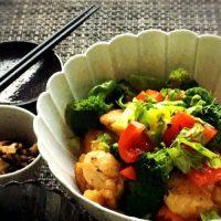 鶏肉とブロッコリーの豆鼓醤炒め