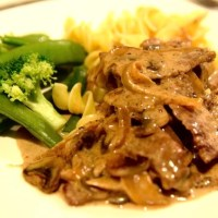 Beef Stroganoff with Egg Noodle