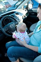 Claire was excited - she got to drive for a minute. :)
