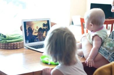 Skyping with Nana & Papa