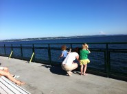 Took a ferry ride to Bainbridge. I love the ferries. I could spend an afternoon with a cuppa by the windows.