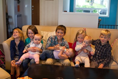 Four couples: Eight children: Great friends