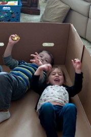 Playing in a really big box....