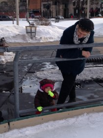 Extra thanks to Gigi for keeping tabs on the tiny tot while we skated :)