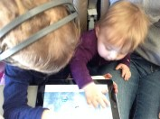 and even shared the iPad with Evelyn. Such great sisters :)