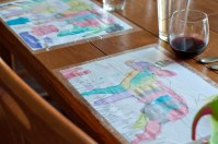 We also decided to use some of her paintings for placemats. She was awfully proud of her handiwork.