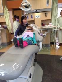 Dentist visit. No cavities yet - whew!