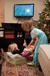 The night before St Nick came, Evelyn tucked Claire in....to Frankie's bed.