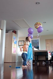 Nothing says Birthday to a 2 year old like Ballooons.....