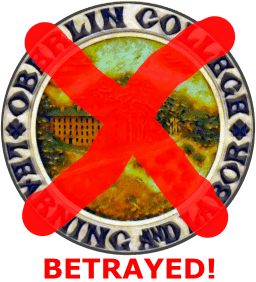 Oberlin College Seal - a symbol betrayed.