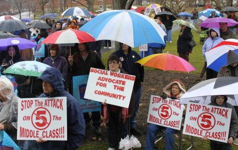 Community Rallies Against Senate Bill 5 in Tappan Square