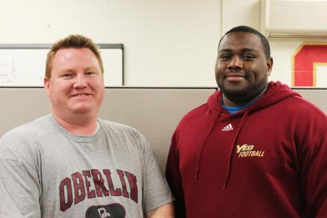 In the Locker Room with Assistant Football Coaches Bob Saunders and Nate Cole