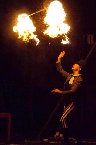 Aerialists Finish with a Bang in 'Up In Smoke'