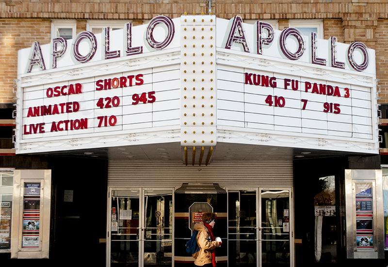 The+Apollo+Theatre+marquee+advertises+several+Oscar-nominated+animated+features%2C+including+Anomalisa.+The+film+is+a+masterful+piece+of+storytelling+and+design%2C+writes+Christian+Bolles.