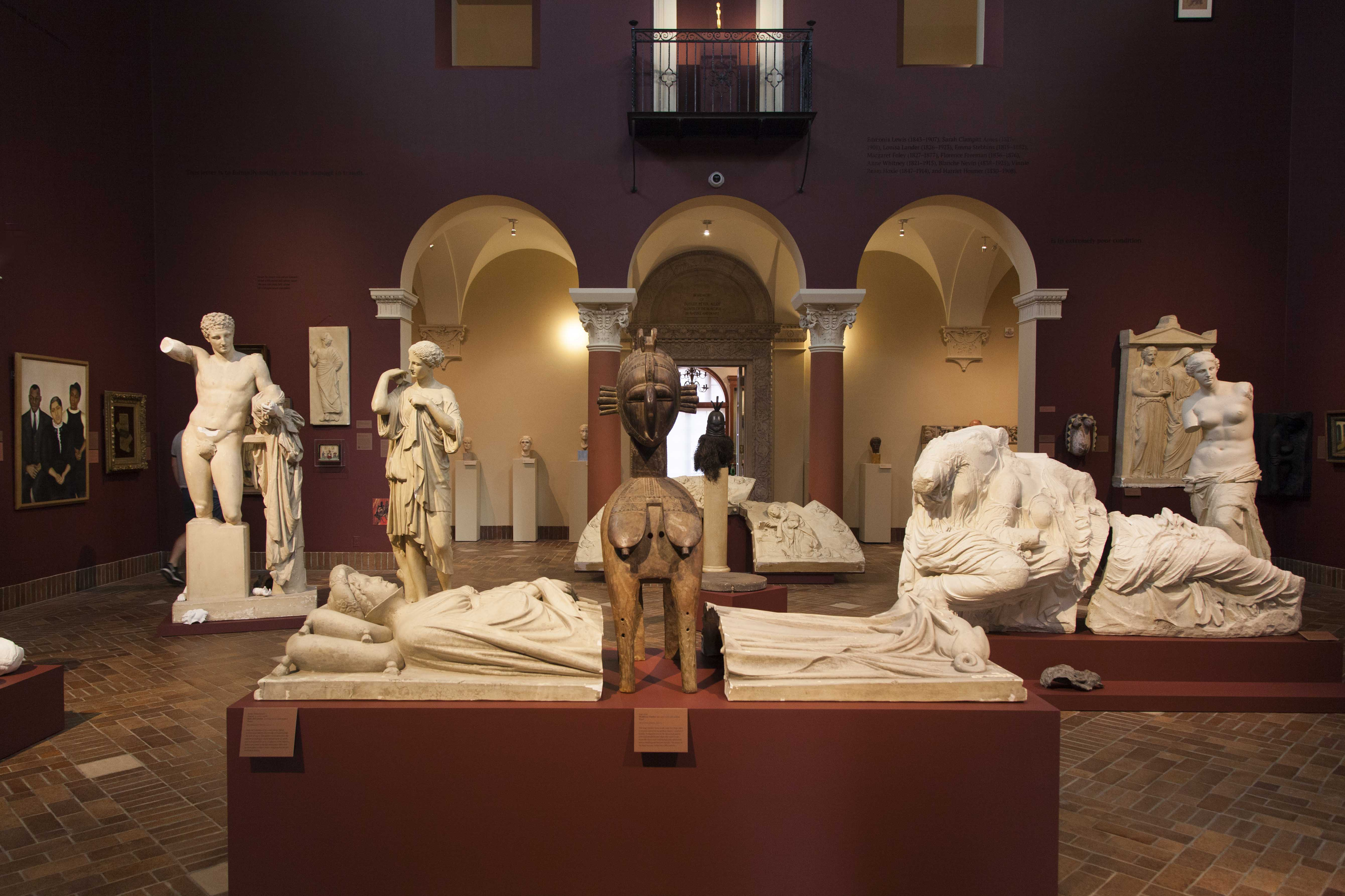 Wildfire Test Pit, one of two exhibits by Fred Wilson that opened Thursday, is an homage to Edmonia Lewis, the 19th century Oberlin student and neoclassical sculptor.