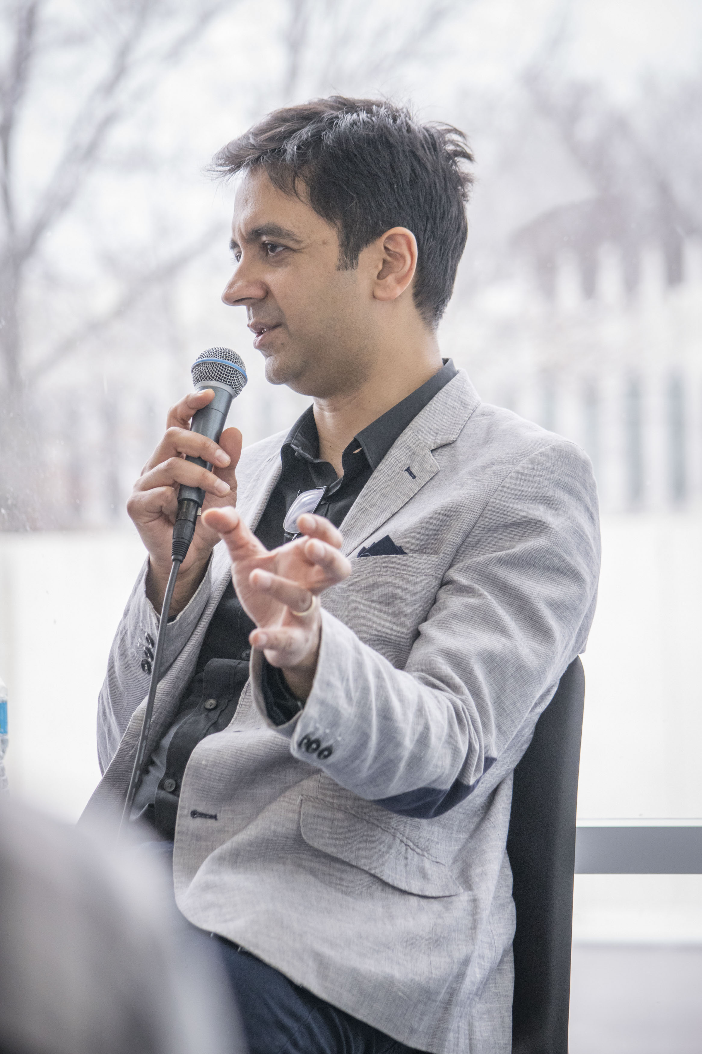 Jazz pianist and composer Vijay Iyer visits Oberlin to attend a workshop performance of Trouble, his new violin concerto, ahead of its world premiere in June.