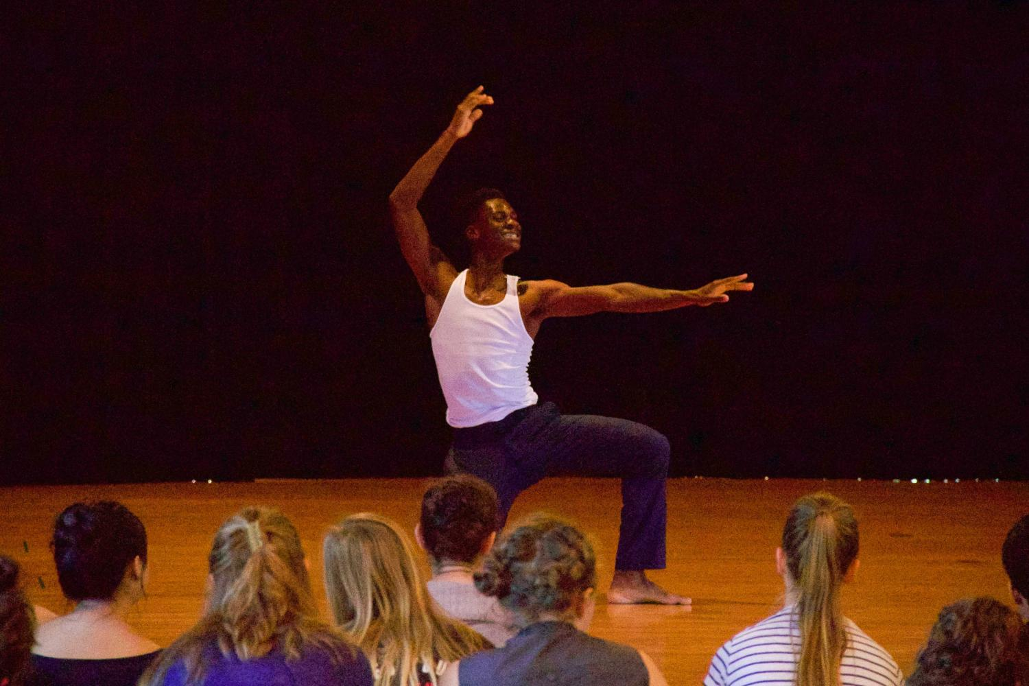 "Kweku Bransah performs ""The Art of Making Dances {Not About Ferguson}"", a dance choreographed by Robin Prichard. The performance engages with U.S. history and the present climate of anti-Black violence through dance."