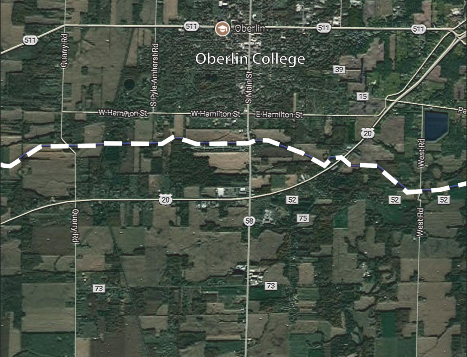 The NEXUS pipeline, which was recently approved for construction by the Federal Energy Regulatory Commission, will be running through the southernmost part of Oberlin.