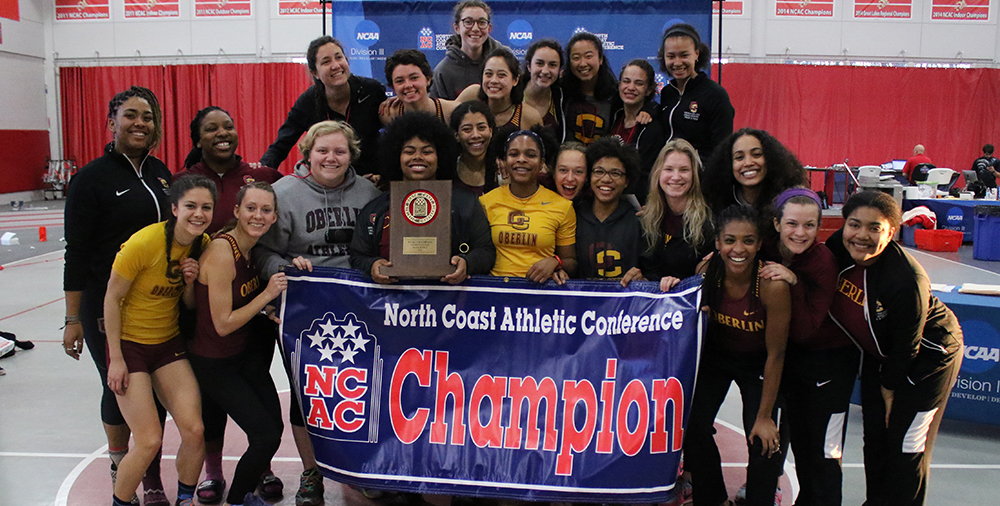 The women's indoor track and field team secured their second consecutive NCAC championship Saturday, edging out second- place Ohio Wesleyan 197.5–177.5.