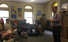 Ken Harbaugh Talks Politics with Students