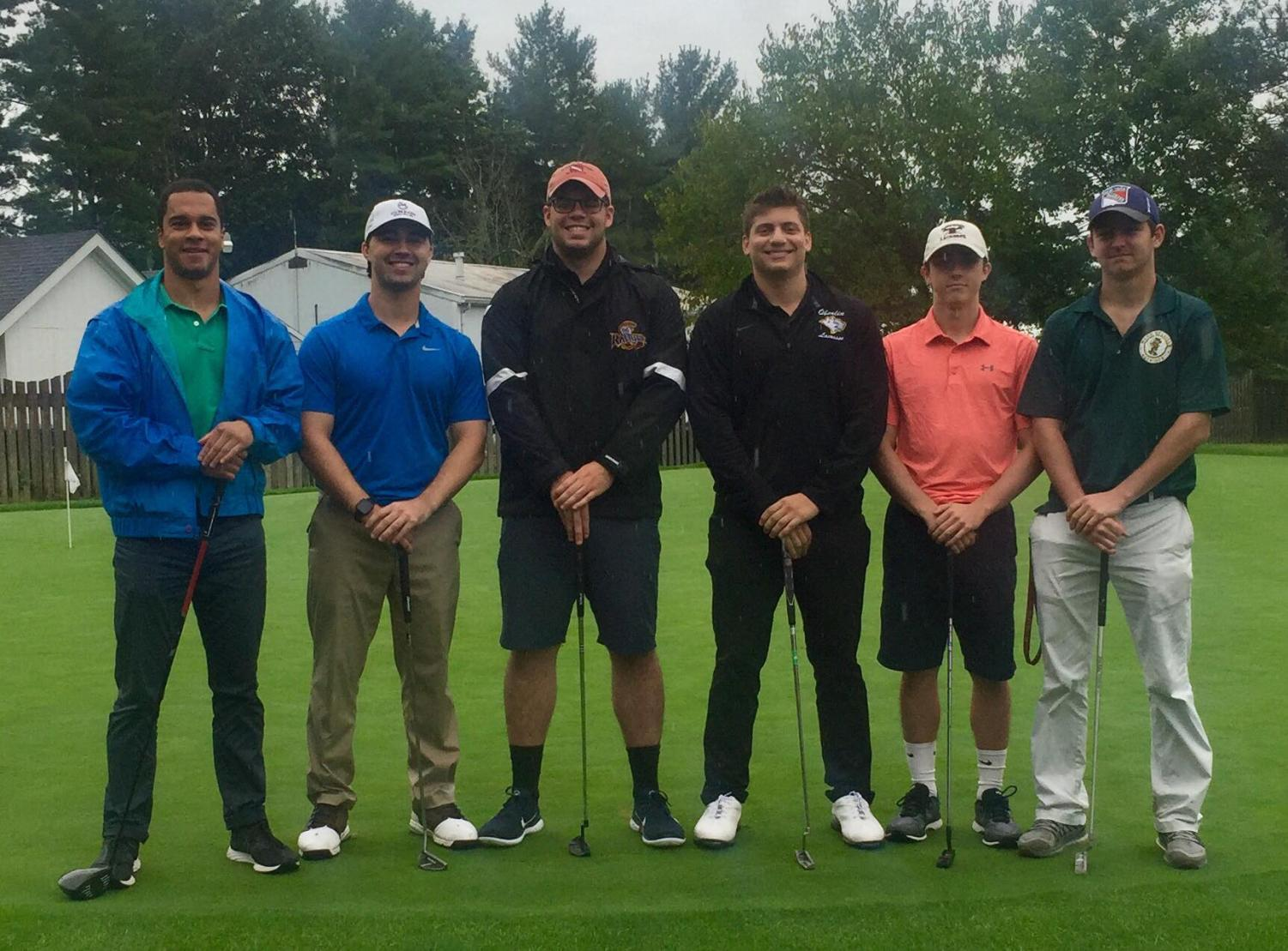 The club golf team is open to anyone who loves to golf or wants to learn the sport. The team brings together athletes from a variety of backgrounds, such as men's lacrosse, baseball, and swimming and diving, as well as non-athletes with a passion for golf.