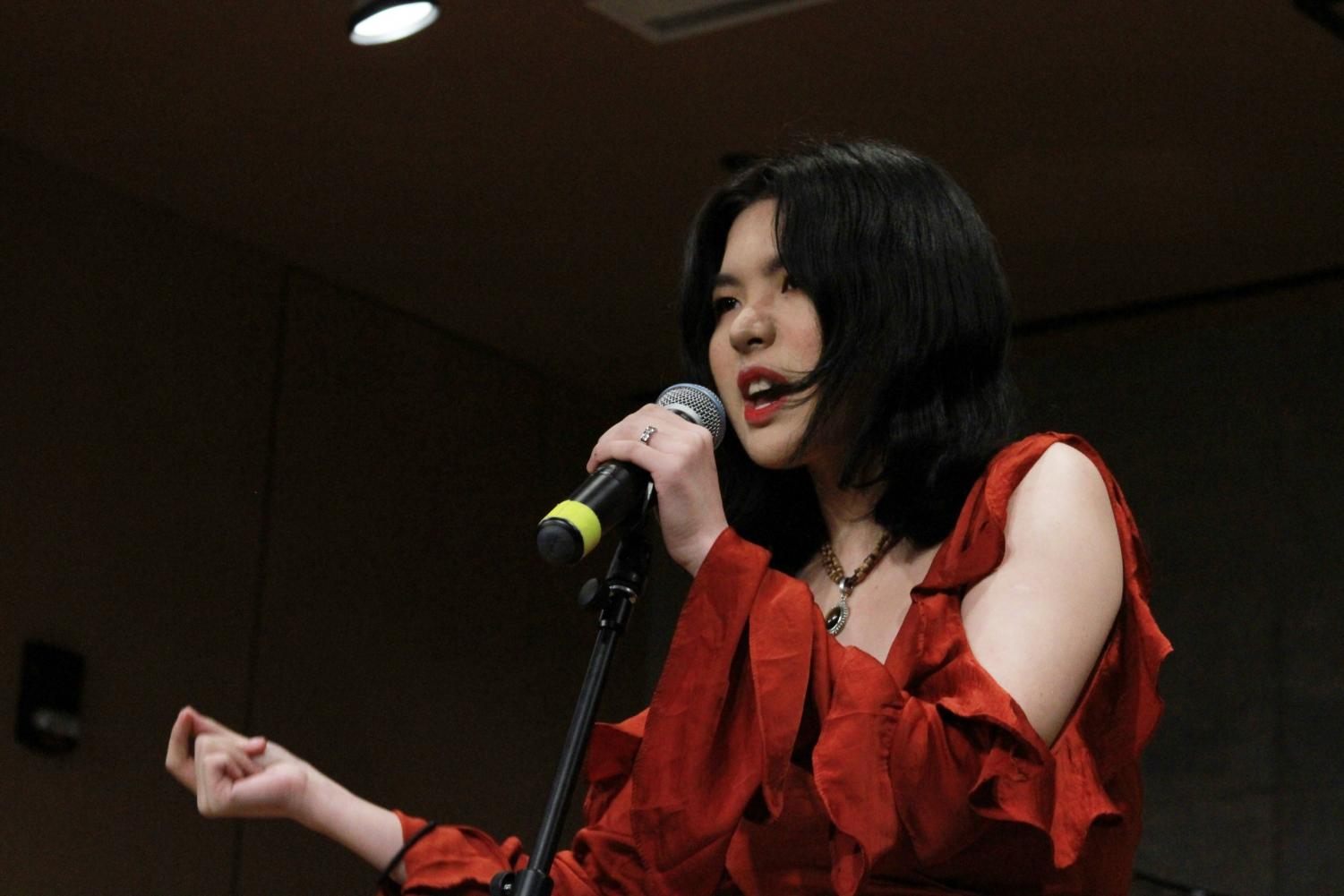 College first-year Isabella Lai performing at the Chinese Music Showcase last Sunday.
