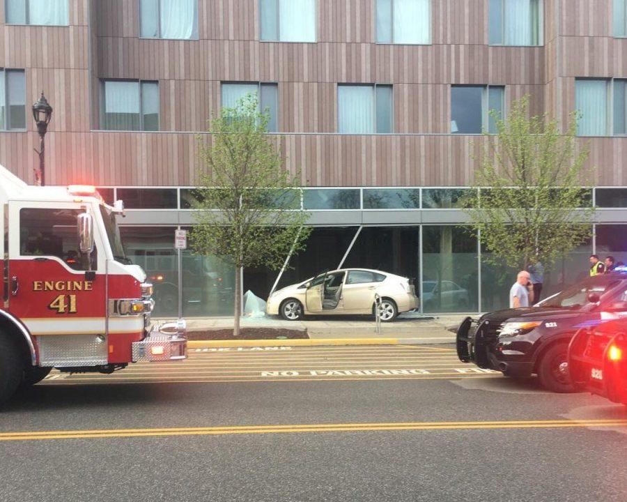 Car Crash Damages The Hotel at Oberlin