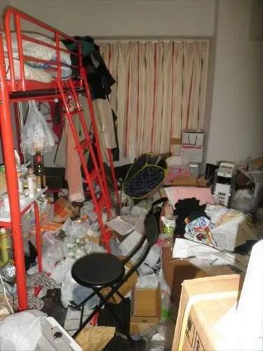 大阪市西区の汚部屋ワンルームの片付け