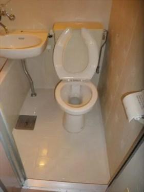 トイレ洗浄後の様子