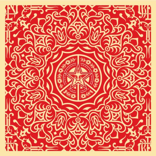Obey-ornate-pattern-18x18red