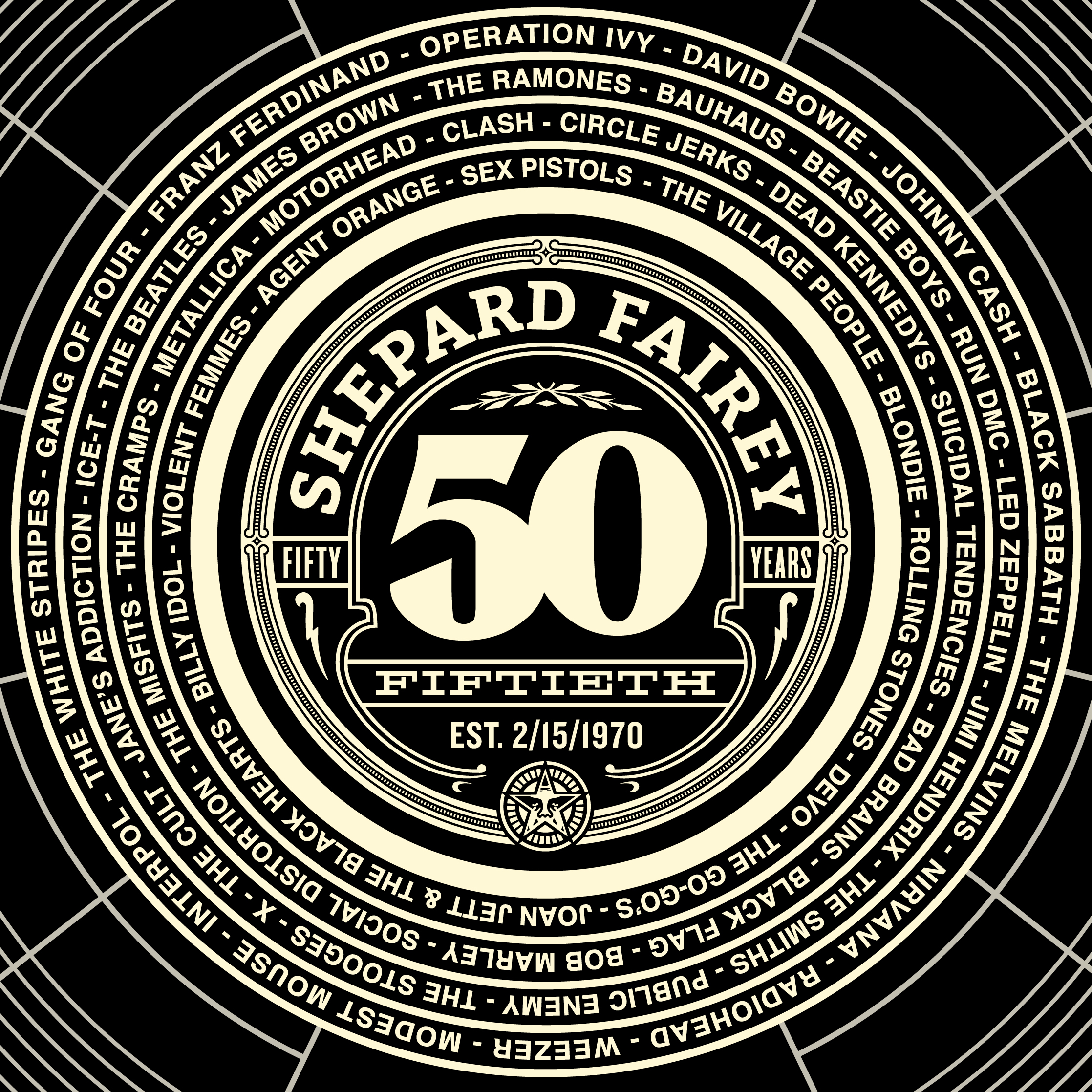 50 At 50 The Soundtrack Of Shepard Fairey Obey Giant