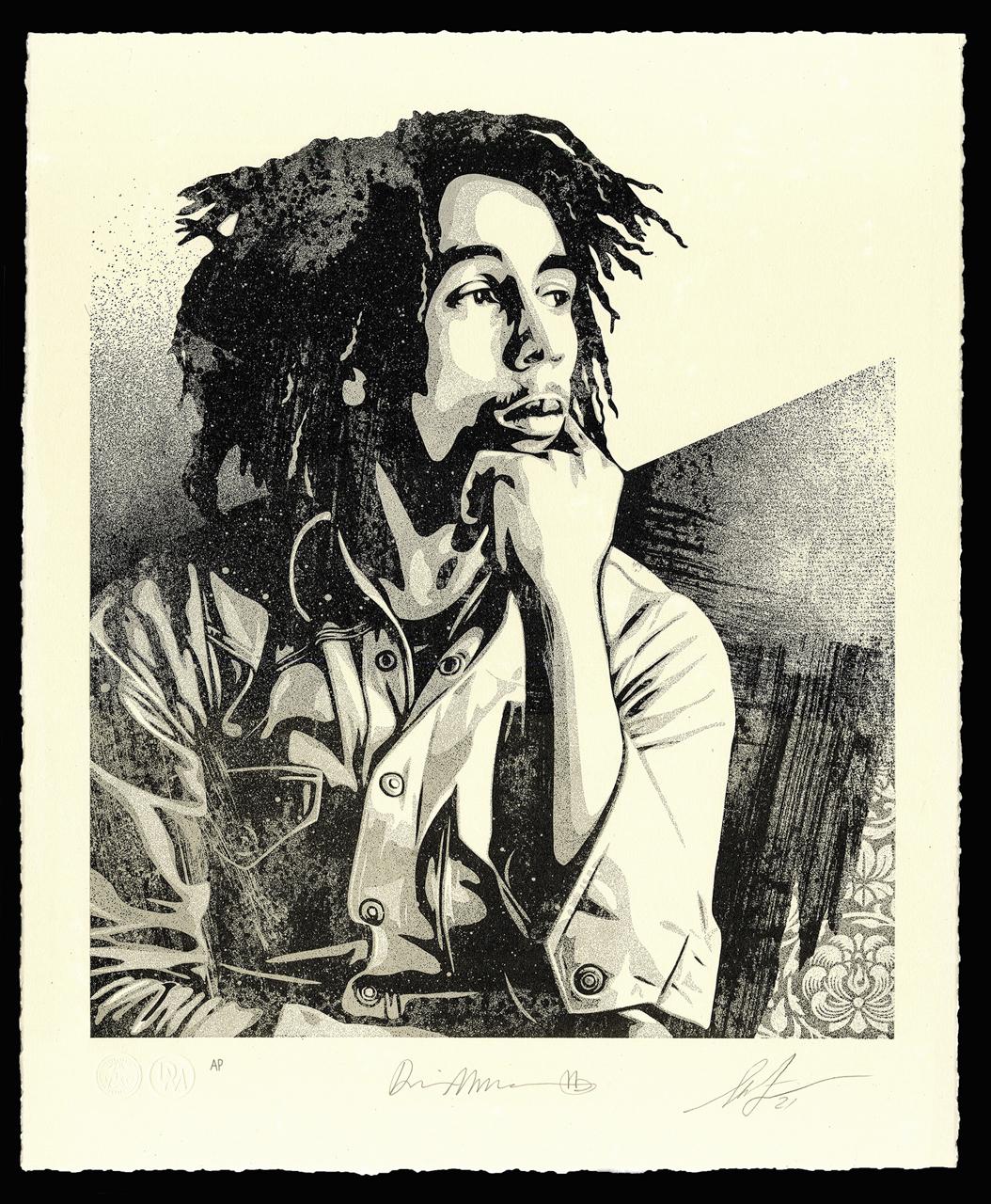 "Bob Marley 40th Letterpress - ""Soul Rebel"" - 16 x 19.5 inches"