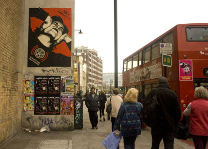 OBEY GIANT Bombing Pictures in London