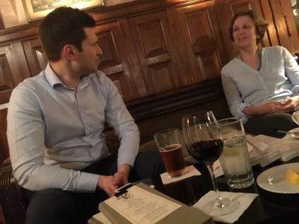 Joel & Ellen in discussion