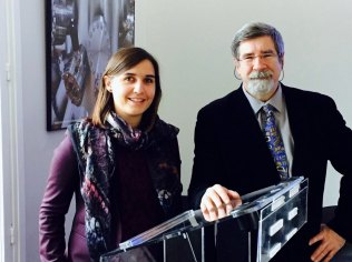 Camille Lamouille and Professor Oleg Kobtzeff, Senior Editor for the GMR7, Quest for the Arctic