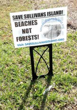Save beaches sign 1