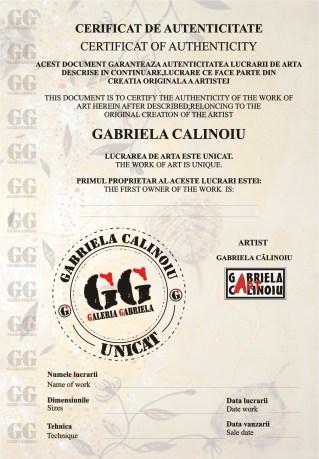 Certificat Autenticitate