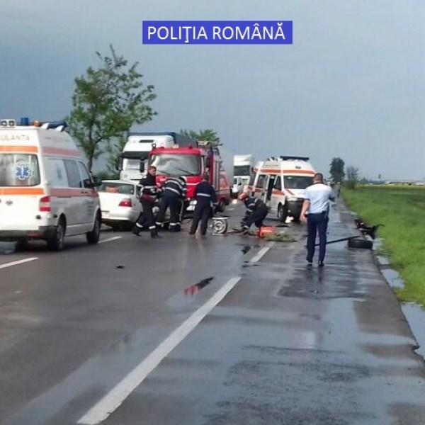 Accident mortal pe DN2 în apropiere de Sinești. Un mort și trei răniți