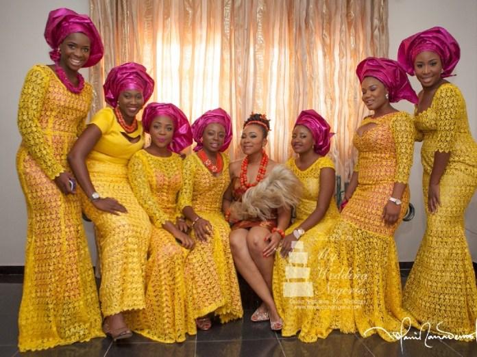 igbo  girls-in-yellow asoebi
