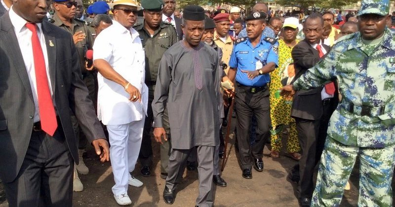 Vice president Yemi Osinbajo Visits Scene Of Tanker Accident In Onitsha