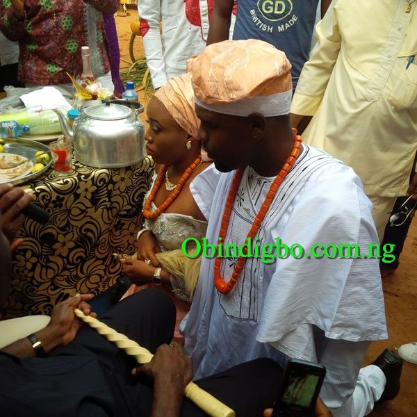Chibuzor Okonkwo and his lover receiving blessings
