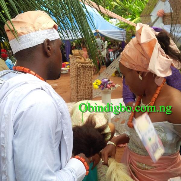 Chibuzor Okonkwo and lover Stella Nkiruka Ezidiegwu dancing