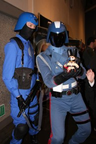 Cobra Commander giving me bunny ears?