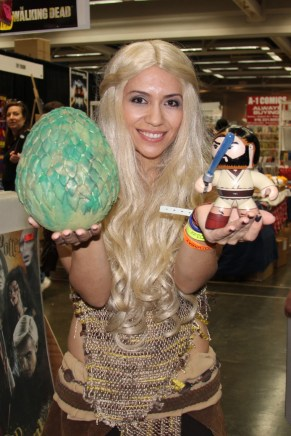 Daenerys and her Dragon Egg and Lil Obi