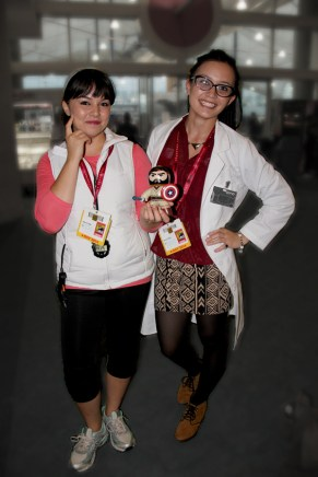 My nieces rocked awesome Orphan Black cosplay as Alison and Cosima