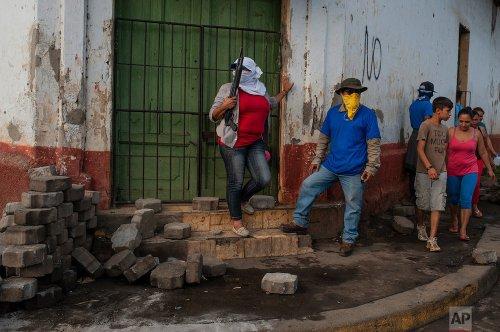 Paramilitary members in Monimbo, Nicaragua